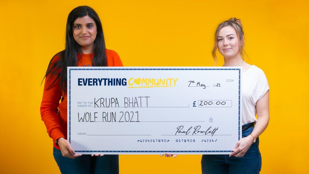 EverythingBranded Donates to Krupa Bhatt